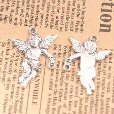 Wholesale 10Pcs Tibetan Silver Angel Charms Pendants Jewelry 35x25MM B75
