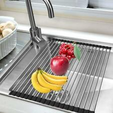 """Sink Rack,Stainless Steel Drain Foldable Sink Dish Drying,17-3/ 4 """"(L) x 13"""" (W)"""