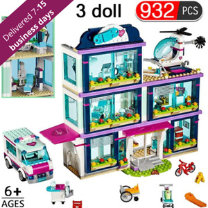 Friends Heartlake Love Hospital Building Kids Toys Bricks DIY Girl Gifts 932pcs