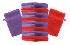 Betz 10 Waschhandschuhe Waschlappen Waschhandschuh PREMIUM 16x21cm rot / lila