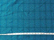 CLEARANCE YARD TURQUOISE BLUE 1980S RETRO DAZZLE DISCO  FABRIC