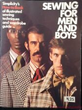 Vtg 1973 Simplicity Sewing for Men & Boys How To Book Illustrated Softcover FR S