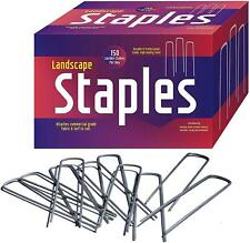 150 Pack 6'' Galvanized Garden Stakes And Landscape Staples: Sod And Fence Stake