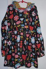 Jelly The Pug Hooded Hannah Dress Black Yellow Floral Polka 14 Jacket