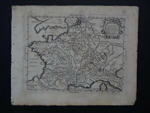 1628 Bertius Atlas TAVERNIER map  FRANCE - Gallia C. July Caesaris a P Bertio