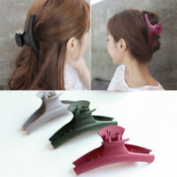 US Women Acrylic Simple Hair Claw Clips Barrette Crab Clamp Hair Accessories