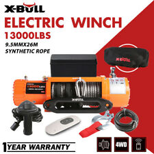 X-BULL 12V 13000LBS Electric Winch Synthetic Rope Jeep IP67 Trailer Towing Truck