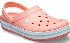 CROCS Crocband Melon Orange Clog Shoes women's size 8
