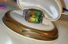 Chuck Clemency NYCII sterling silver Rainbow Genesis Quartz black diamond ring