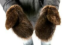 Long Men's Beaver fur Mittens