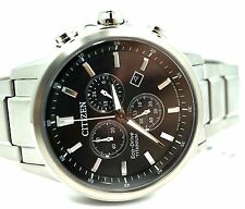 New Citizen Stainless Steel Chronograph 42mm Quartz Watch AT2340-81A $708