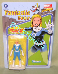 "INVISIBLE WOMAN Fantastic Four Marvel Legends Retro (Kenner) 3.75"" Figure 2021"