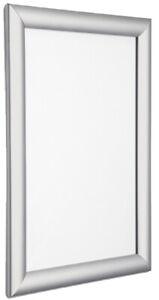 Silver Snap Frames Poster Holders Retail Wall Notice Board - Various Sizes