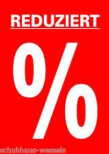 Plakat REDUZIERT % SALE für DIN A1 Kundenstopper Schaufenter Werbe Poster