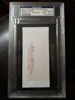 2010 Historic Autographs Bob Watson HOF 10/30 Psa/DNA Authentic Auto