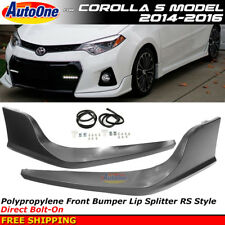 Toyota Corolla S 2014-2016 RS Style Front Splitter Spoiler Bumper Valance Trim