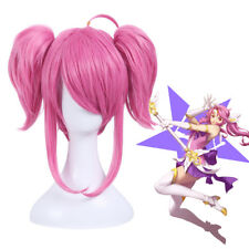 League of Legends Star Guardian LUX LOL Anime Hair Cosplay Wig Ponytail US Stock