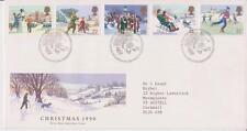 GB ROYAL MAIL FDC 1990 CHRISTMAS STAMP SET BETHLEHEM PMK