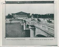 1975 The Place de la Concorde in Paris Original News Service Photo