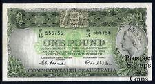 1953 One Pound QEII Australian Predecimal note (VF+) - HF16 556756