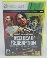 Red Dead Redemption (Microsoft Xbox 360, 2010) Complete & Tested - FREE SHIP