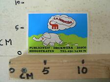 STICKER,DECAL C.M. PRODUCTION HOOGSTRATEN OLIFANT ELEPHANT DRUKWERK DISCO PUBLI