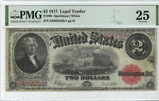 $2 1917 Legal Tender Fr#60 PMG Very Fine 25