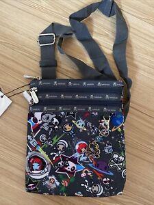 New Tokidoki Grey Print Crossbody Bag  - Kawaii 2 - Til Death Do Us Part Design