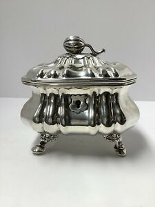 Austrian Silver Sugar Box. Vienna 1853. 488 Grams. Antique