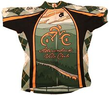 Champion Systems womens XL green yellow cycling Jacket Adirondack Velo Club
