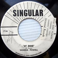 SANDRA POWELL teen promo 45 NEXT THING TO PARADISE b/w MY JIMMIE vg to vg+ e0352