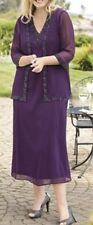 Ulla Popken 2Pc Princess Royal Beaded Jacket Dress Set 20 22 2X NEW  h