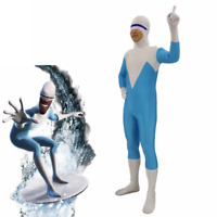 Incredibles 2 Deluxe Frozone Costume Kids Adult Moive Cosplay Fancy Dress