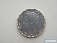 Moneda Moneda 1 Peseta 1899 Plata
