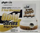 "Rule 2000 GPH GOLD SERIES Bilge Pump 7570 LPH 12V 1-1/8"" photo"