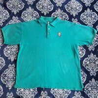 Vintage Warner Brothers Studio Taz Tasmanian Devil Polo Shirt Size Large