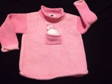 Mulberribush 24 Months, Pink Snowman In A pocket At Front Sweater
