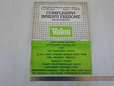 SCHEDARIO FRIZIONI ORIGINALE VALEO 1983 FERRARI DINO 131 ABARTH 112 500 ALFA ETC