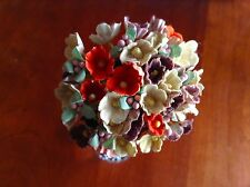 Vtg Millinery Flowers Forget Me Not Bunch Earth Mix for Doll + Hat Ginny ET
