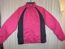 Jacket Black Pink Danskin Now Womans Size S 4-6 Zip Front Pink