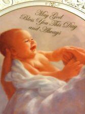 SIMPLY BEAUTIFUL DEDICATION PLATE ~BOY OR GIRL~CHRISTIAN *CHRISTENING* BAPTISM