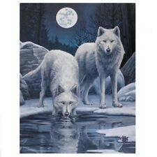 Wolf Pair Moon Night Stunning Gothic Fantasy Giant Poster Wall Art Print