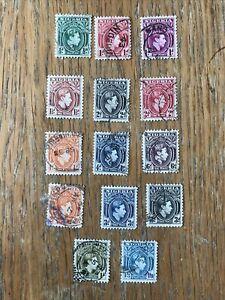 Nigeria SG45/57 1938-51 KGVI - Set of 14: 1d - 1/3 USED FINE