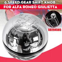 6 vitesse Levier de vitesse pommeau Chrome pour Alfa Romeo Giulietta 50294565