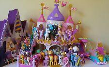 HUGE LOT 52 My Little Pony MLP W/ Castles, Cars, Accessories+RARE DERPY, ZECORA