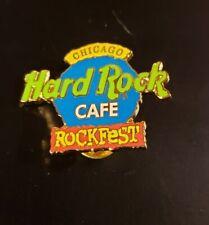 Hard Rock Café Pin Chicago - Rockfest 2000 - Blue & Green Logo - (#1846)