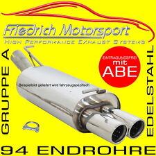FRIEDRICH MOTORSPORT V2A SPORTAUSPUFF VW Bora Limo+Variant Endrohr versteckt