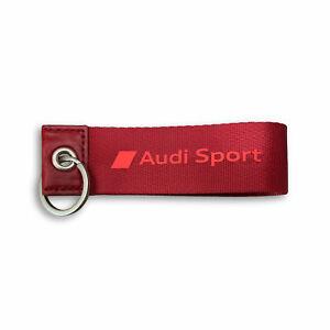 Audi Sport Keyring Red 3182000300 Loop Shape Pendant Genuine New