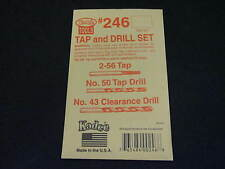 Kadee Hobby Tools:  Tap and Drill Set #246 for 2-56 machine screws