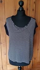All Saints T.Shirt Ink/ Chalk Stripe Size Medium